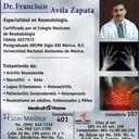 Dr. Francisco Avila Zapata Reumatologia
